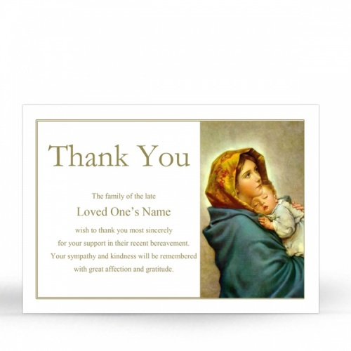 MAR25 Memorial Thank You Card