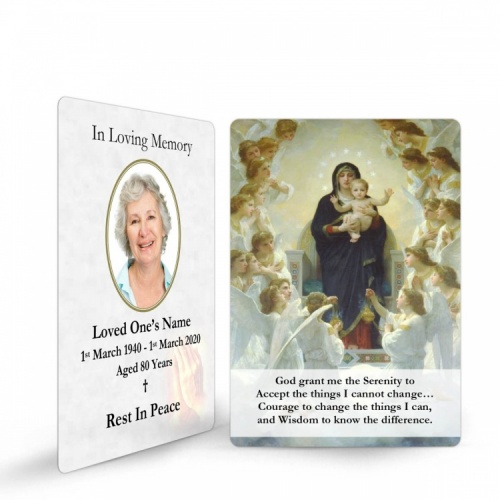 Catholic Custom Photo Memorial Wallet Prayer Card with Blessed Virgin Mary Jesus - MAR29