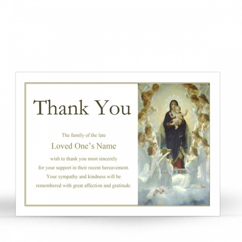 MAR29 Memorial Thank You Card