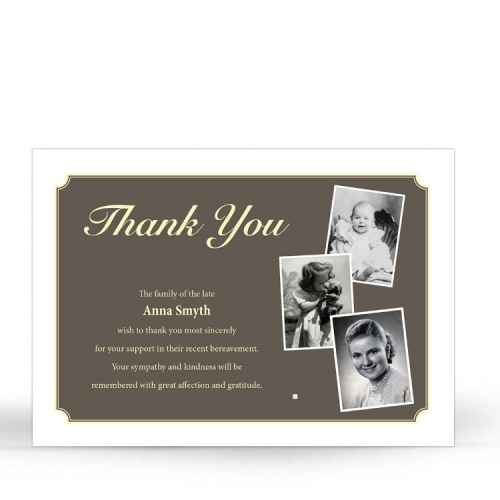 MOD01 Memorial Thank You Card