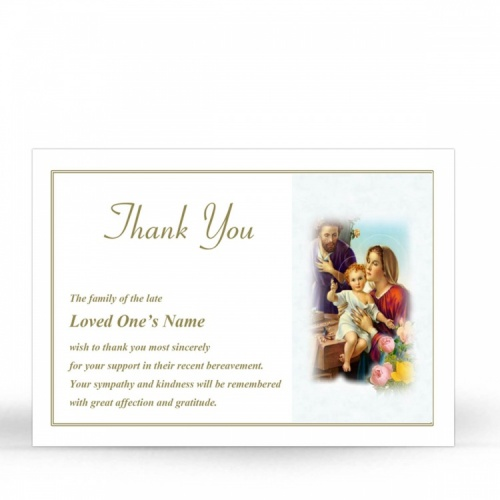 REG101 Memorial Thank You Card