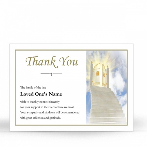 REG03 Memorial Thank You Card