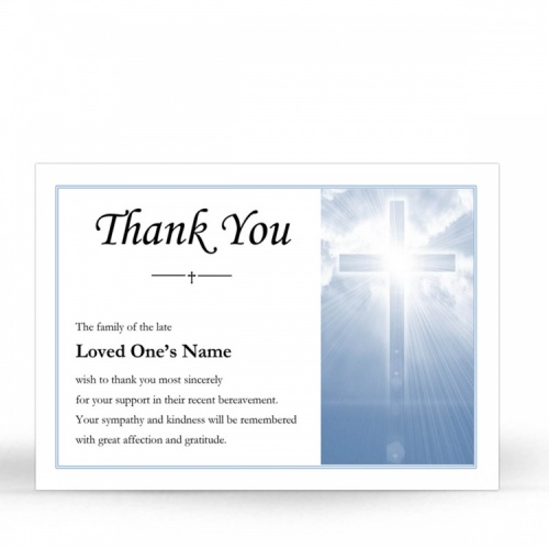 REG24 Memorial Thank You Card
