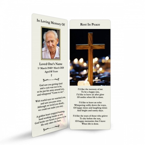 REG91 Memorial Bookmark