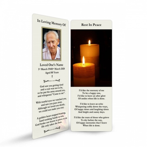 REG93 Memorial Bookmark