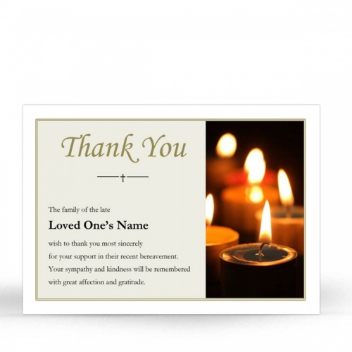 REG94 Memorial Thank You Card