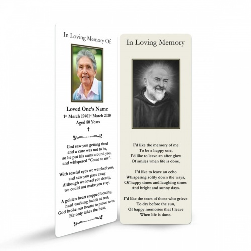 Saint Padre Pio Catholic Prayer Memorial Bookmarks - ST17
