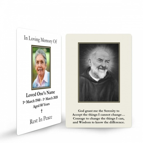 Saint Padre Pio Catholic Prayer Cards - ST17