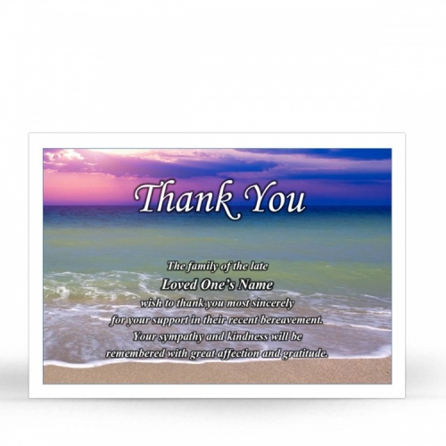 SCE08 Memorial Thank You Card