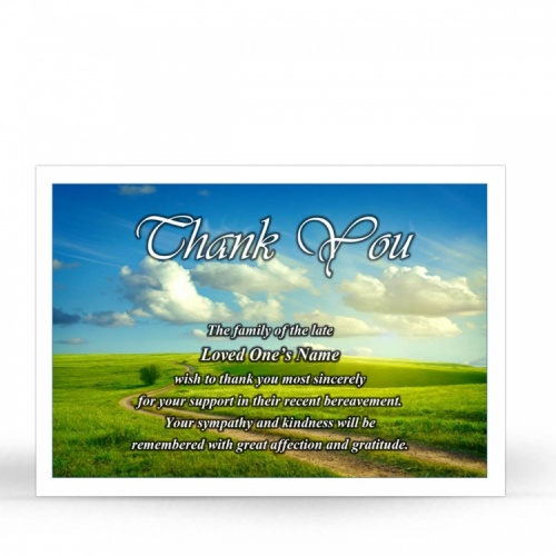 SCE47 Memorial Thank You Card