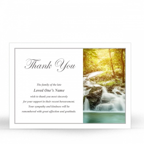 SCE78 Memorial Thank You Card