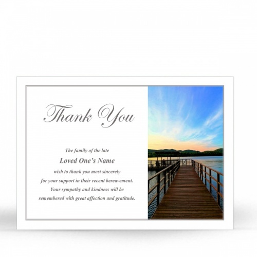 SCE80 Memorial Thank You Card