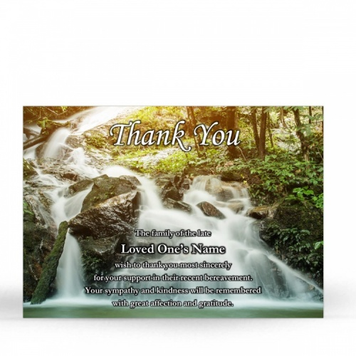 SCE84 Memorial Thank You Card