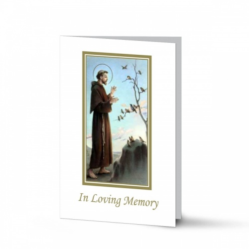 Saint Francis Of Assisi Catholic Irish Customised Memorial Cards Laminated- ST09