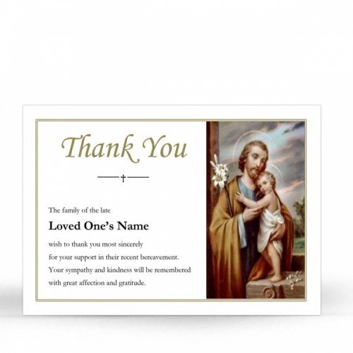 Saint Joseph Catholic Irish Holy Acknowledgement Card - ST13