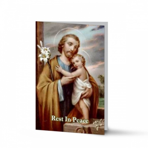 Saint Joseph Catholic Irish Holy Laminated Folding Memorial Card - ST13