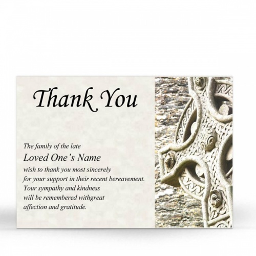 CEL04 Memorial Thank You Card