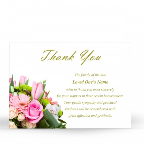 FLW81 Memorial Thank You Card