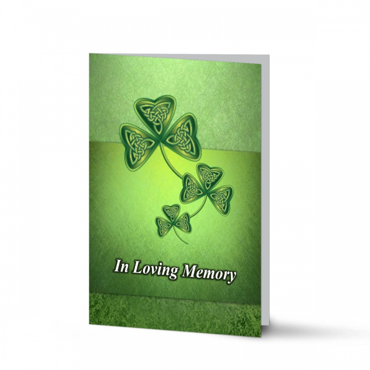 Irish Memorial Bookmarks Ireland Shamrock Theme In Loving Memory Of  Personalised Photo - CEL25