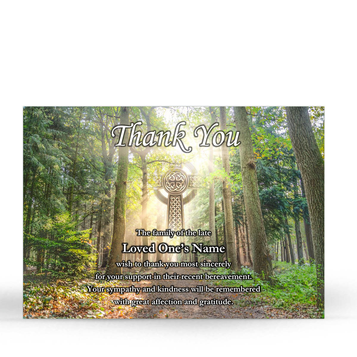 CEL68 Memorial Thank You Card
