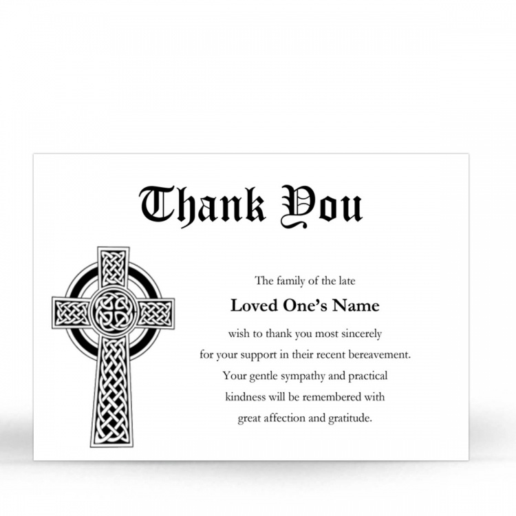 Catholic Prayer Cards Custom Memorial Acknowledgement Card - CLS16