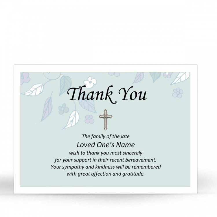 CRS25 Memorial Thank You Card