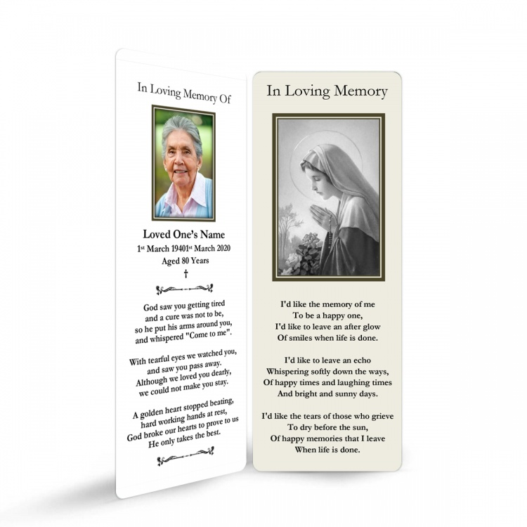 MARY44 Memorial Bookmark
