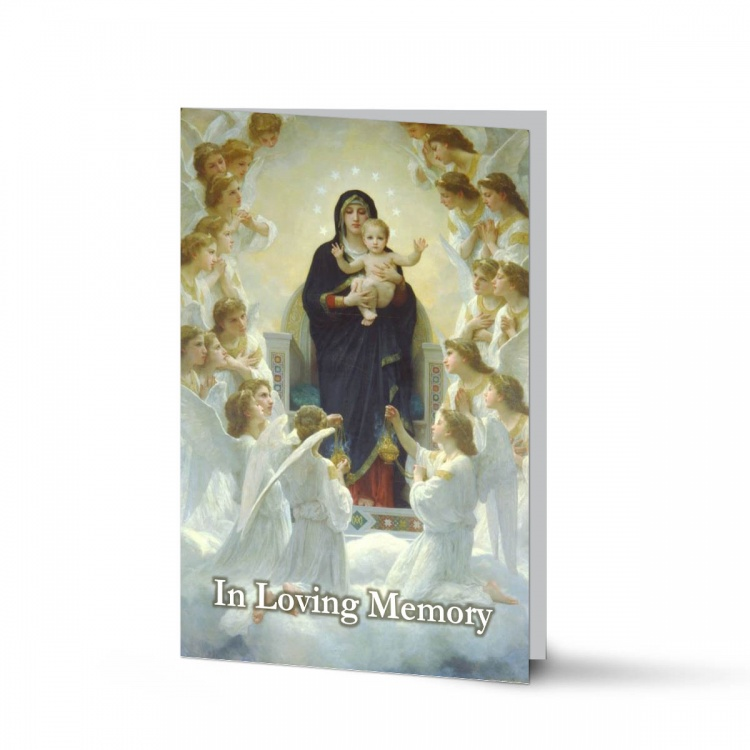 Catholic Custom Photo Memorial Cards with Blessed Virgin Mary Jesus - MAR29