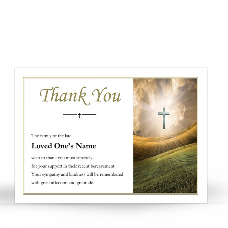 REG32 Memorial Thank You Card