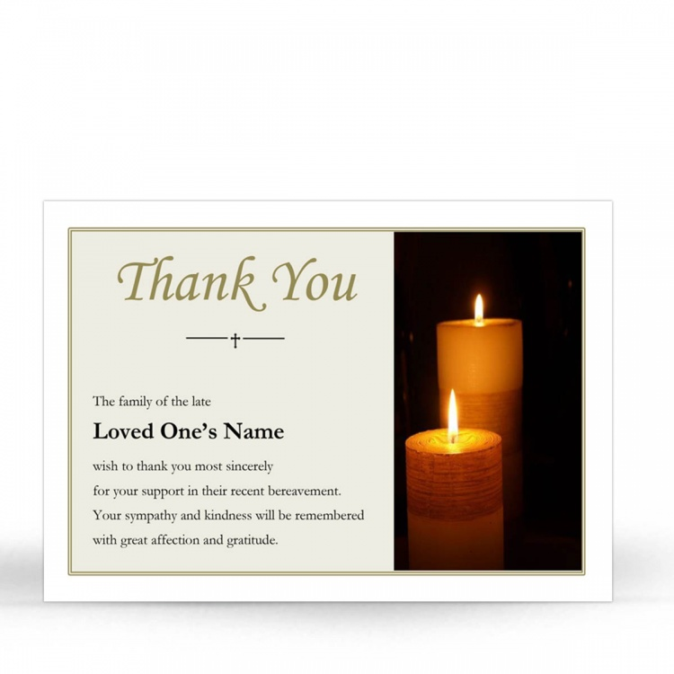 REG93 Memorial Thank You Card