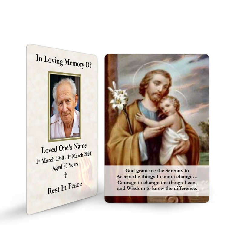 Saint Joseph Catholic Irish Holy Laminated Prayer Wallet Card - ST13